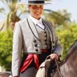 Female Rider Smilng — Stock Photo