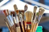 Various paintbrushes — Stock Photo