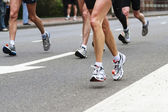 Marathon legs — Stock Photo