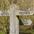 Public footpath sign 2 — Stock Photo #45560917