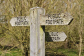 Public footpath sign 2 — Stock Photo