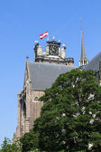 Historic Dordrecht cathedral — Stock Photo