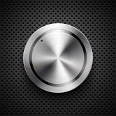Technology volume button with metal texture — Vector de stock