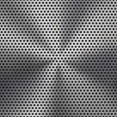 Cerchio senza giunte perforata texture griglia metallica — Vettoriale Stock