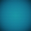 Blue Seamless Circle Perforated Carbon Grill Texture - Stock vektor