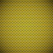 Yellow Seamless Circle Perforated Grill Texture - Stock Vector