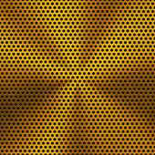 Tło z okrągły złoty metal tekstury — Wektor stockowy