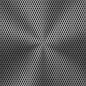 Metal Background with Seamless Perforated Texture — Stock Vector