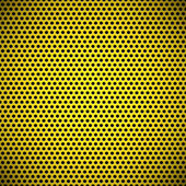 Yellow Seamless Circle Perforated Grill Texture — Stock Vector