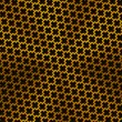 Background with Cross Pattern and Gold Texture — Stok Vektör