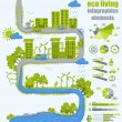 Ecology info graphics — Stockvectorbeeld