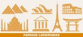 Famous landmark icons — Stock Vector