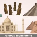Famous landmarks — Stock Vector #12543842