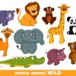 Wild animals — Stock Vector #12543886