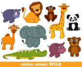 Wild animals — Stock Vector