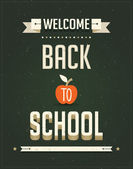 Back to School, Typography Poster on Chalkboard. Vector illustration. — Stock Vector