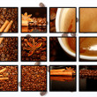 Collage of coffee motives - ストック写真