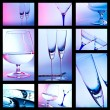 Glass for brandy. colored collage — Stock Photo #21296581