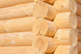Wooden wall from timber — Stock Photo