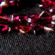 Garnet stone with star filter — Stock Photo