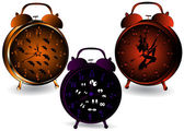 Halloween clocks. — Stock Photo