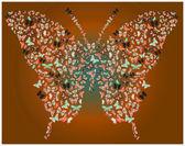 Borboleta de borboletas marrom — Foto Stock