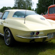 """PAAREN IM GLIEN, GERMANY - MAY 26: Cars Chevrolet Corvette C2 Sting Ray Coupe, rear view, """"The oldtimer show"""" in MAFZ, May 26, 2012 in Paaren im Glien, Germany — Stock Photo #11970962"""