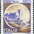 Stamp printed in Italy, shows Miramare Castle, circ1980 — Stock Photo #12085959