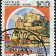 A stamp printed in Italy, shows the Castello Aragonese (Ischia), circa 1980 — Stock Photo