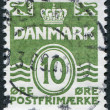 Denmark stamp — Stock Photo