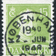 A stamp printed in the Denmark, depicts King Christian X, circa 1942 — Stock Photo