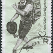 A stamp printed in Austria, shows the character of the operetta The Bird Seller, by Carl Zeller, circa 1970 - Stock Photo