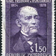 A stamp printed in Austria, is dedicated to the 150th anniversary of Baron Carl von Rokitansky, circa 1954 — Stock Photo