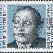 A stamp printed in Austria, devoted to 100th anniversary of Egon Friedell, circa 1978 - Stock Photo