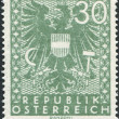 AUSTRIA - CIRCA 1945: A stamp printed in Austria, shows the coat of arms, circa 1945 - Stock Photo