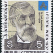 A stamp printed in the Austrian, shows Dr. Karl Josef Bayer, Chemist, circa 1987 — Stock Photo