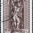 Stock Photo: Stamp printed in Austrian, is dedicated to 500th anniversary of Diocese of Vienna, depicts statue of St. Sebastiin St. Stephen's
