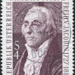 A stamp printed in Austria, is shown Nikolaus Joseph von Jacquin, Botanist, circa 1977 - Stock Photo