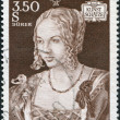 "A stamp printed in Austria, shows portrait of the ""Young Venetian"" by Albrecht Durer, circa 1971 — Stock Photo #12086504"