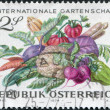 A stamp printed in Austria, devoted to the International Garden Show, Vienna, shown Vegetables, circa 1974 — Stock Photo