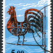 A stamp printed in the Finland, shown Kirvu Weather Vane, circa 1977 — Stock Photo #12086522