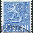"A stamp printed in the Finland, shows a national symbol ""Lion"", circa 1967 — Stock Photo #12086525"