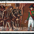 A stamp printed in the Equatorial Guinea, shows the capitulation Napoleon I, circa 1977 — Stock Photo