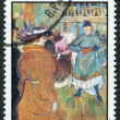 GRENADA - CIRCA 1976: A stamp printed in Grenada, is dedicated to the 75 th anniversary of the death of Henri de Toulouse-Lautrec, circa 1976 - Stock Photo