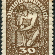 AUSTRIA - CIRCA 1919: A stamp printed in Austria, is shown Allegory of New Republic, circa 1919 - Stock Photo