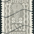 AUSTRIA - CIRCA 1922: A stamp printed in Austria, shows Symbols of Agriculture, circa 1922 - 图库照片