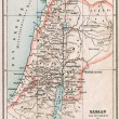 Map of Israel and Palestine. The Bible. The Old Testament. Germany, circa 1895 — Stock Photo #12086775