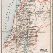 Map of Israel and Palestine. The Bible. The Old Testament. Germany, circa 1895 — Stock Photo