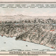 Map of Palestine from the bird's flight. The Bible. Germany, circa 1895 — Stock Photo #12086781