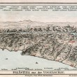 Map of Palestine from the bird's flight. The Bible. Germany, circa 1895 — Stock Photo
